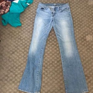 7 For All Mankind Bootcut Light wash Jeans